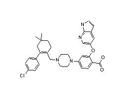1235865-77-6 2-((1H-pyrrolo[2,3-b]pyridin-5-yl)oxy)-4-(4-((4'-chloro-5,5-dimethyl-3,4,5,6-tetrahydro-[1,1'-biphenyl]-2-yl)methyl)piperazin-1-yl)benzoic acid