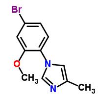 870838-56-5 1-(4-bromo-2-methoxyphenyl)-4-methyl-1H-imidazole
