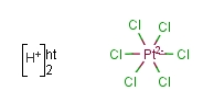 Chloroplatinic Acid [H<sub>14</sub>Cl<sub>6</sub>O<sub>6</sub>Pt]