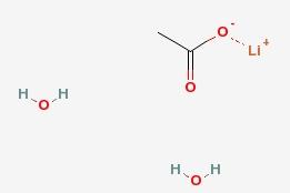 Lithium acetate dihydrate [C<sub>2</sub>H<sub>7</sub>LiO<sub>4</sub>]