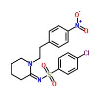 4-Chloro-N-[1-[2-(4-nitrophenyl)ethyl]-2-piperidinylidene]benzenesulfonamide