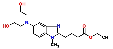 3543-74-6 [1-Methyl-5-bis(2'-hydroxyethyl)aminobenzimidazolyl-2]butanoic Acid Ethyl Ester