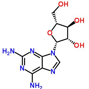 9-(beta-D-arabinofuranosyl)-9H-purine-2,6-diamine [34079-68-0]