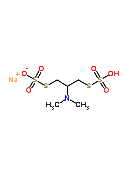 sodium S-[2-(dimethylamino)-3-(sulfosulfanyl)propyl] sulfurothioate