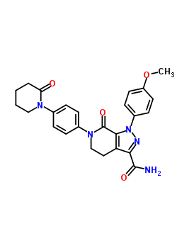 503612-47-3 1-(4-Methoxyphenyl)-7-oxo-6-[4-(2-oxopiperidin-1-yl)phenyl]-4,5,6,7-tetrahydro-1H-pyrazolo[3,4-c]pyridine-3-carboxamide
