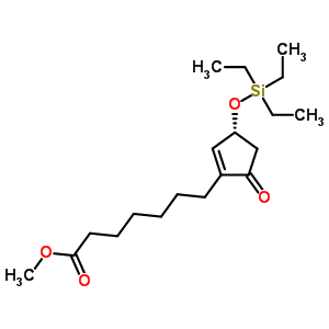 methyl 7-{(3R)-5-oxo-3-[(triethylsilyl)oxy]cyclopent-1-en-1-yl}heptanoate