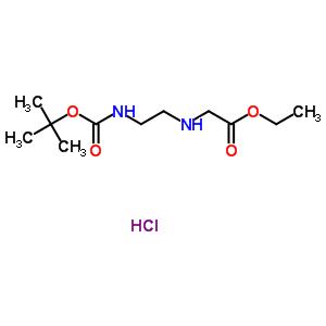 ethyl N-{2-[(tert-butoxycarbonyl)amino]ethyl}glycinate hydrochloride