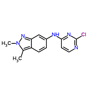 444731-74-2 N-(2-chloropyrimidin-4-yl)-2,3-dimethyl-2H-indazol-6-amine