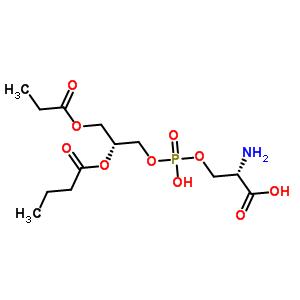 O-[{[(2R)-2-(butanoyloxy)-3-(propanoyloxy)propyl]oxy}(hydroxy)phosphoryl]-L-serine