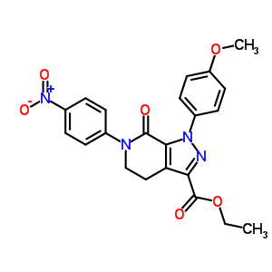 536759-91-8 ethyl 1-(4-methoxyphenyl)-6-(4-nitrophenyl)-7-oxo-4,5,6,7-tetrahydro-1H-pyrazolo[3,4-c]pyridine-3-carboxylate