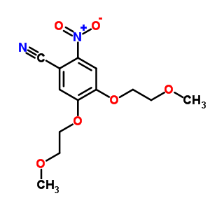 236750-65-5 4,5-bis(2-methoxyethoxy)-2-nitrobenzonitrile
