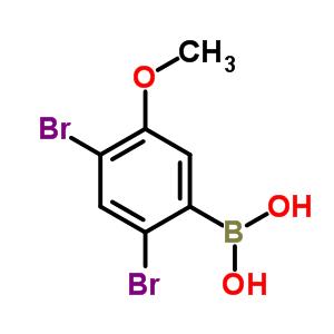 (2,4-dibromo-5-methoxy-phenyl)boronic acid