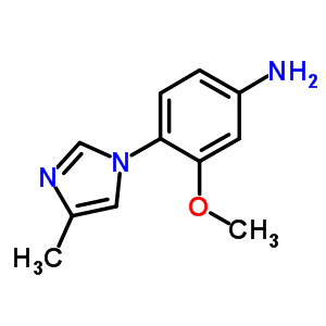 3-methoxy-4-(4-methyl-1-H-imidazol-1-yl)benzenamine 958245-18-6