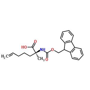 288617-77-6 (2R)-2-(9H-fluoren-9-ylmethoxycarbonylamino)-2-methyl-hept-6-enoic acid