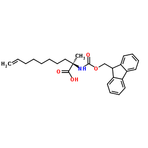 (2R)-2-(9H-fluoren-9-ylmethoxycarbonylamino)-2-methyl-dec-9-enoic acid