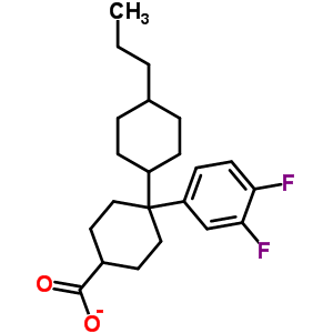 4-(3,4-difluorophenyl)-4-(4-propylcyclohexyl)cyclohexanecarboxylate