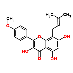 3,5,7-Trihydroxy-2-(4-methoxyphenyl)-8-(3-methylbut-2-en-1-yl)-4H-chromen-4-one