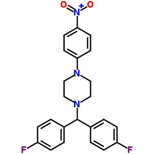1-[bis(4-fluorophenyl)methyl]-4-(4-nitrophenyl)piperazine