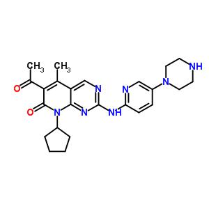 571190-30-2 6-acetyl-8-cyclopentyl-5-methyl-2-[(5-piperazin-1-ylpyridin-2-yl)amino]pyrido[2,3-d]pyrimidin-7(8H)-one