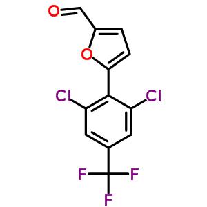 5-[2,6-dichloro-4-(trifluoromethyl)phenyl]furan-2-carbaldehyde