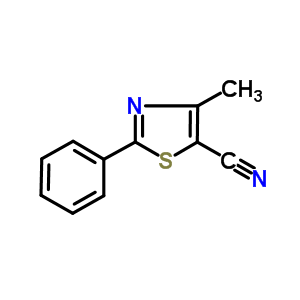 4-methyl-2-phenyl-thiazole-5-carbonitrile