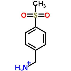 [4-(methylsulfonyl)phenyl]methanaminium