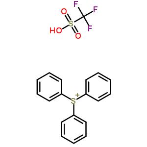 trifluoromethanesulfonic acid, triphenylsulfonium [130595-32-3]