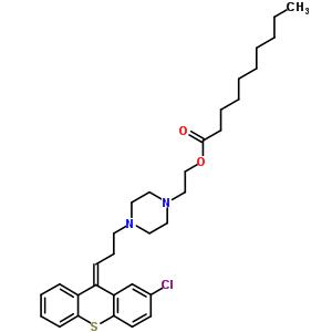 64053-00-5 2-{4-[(3Z)-3-(2-chloro-9H-thioxanthen-9-ylidene)propyl]piperazin-1-yl}ethyl decanoate