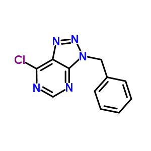 3-benzyl-7-chloro-3H-[1,2,3]triazolo[4,5-d]pyrimidine