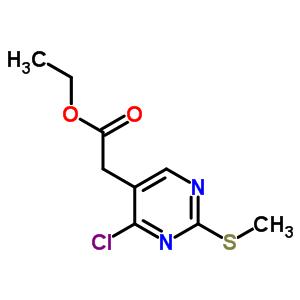 61727-34-2 ethyl [4-chloro-2-(methylsulfanyl)pyrimidin-5-yl]acetate